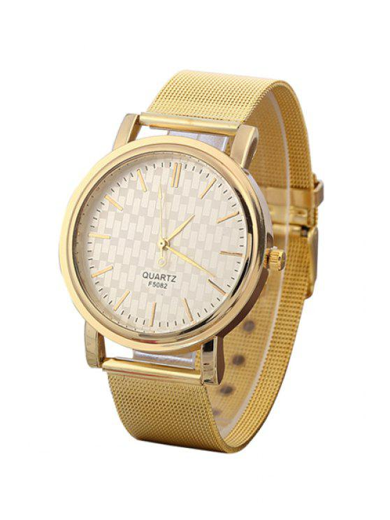 fancy Golden Mesh Watch - GOLDEN