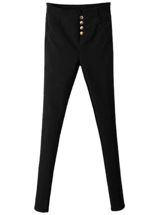 new Black Single-Breasted Skinny Pants - BLACK S