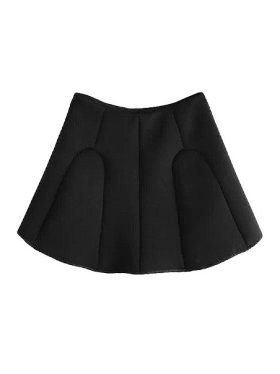 shops A-Line Solid Color Skirt - BLACK S