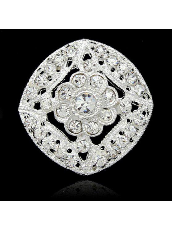 shops Fashion Diamante Openwork Geometric Brooch For Women - RANDOM COLOR PATTERN