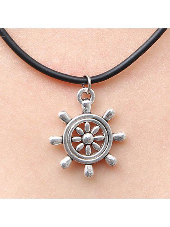 shops Chic Women's Rudder Pendant Necklace - SILVER