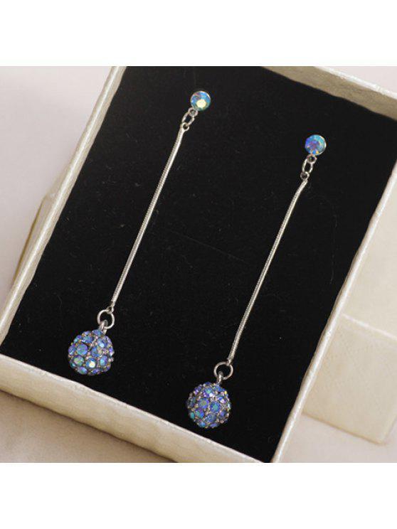 fancy Pair of Stylish Women's Rhinestone Round Earrings - LIGHT PURPLE