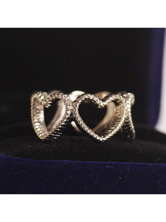 latest Chic Women's Openwork Heart Design Ring - GOLDEN ONE-SIZE