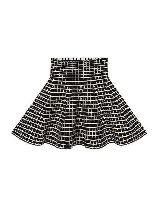 sale Checked Flouncing Knit Skirt - CHECKED ONE SIZE(FIT SIZE XS TO M)