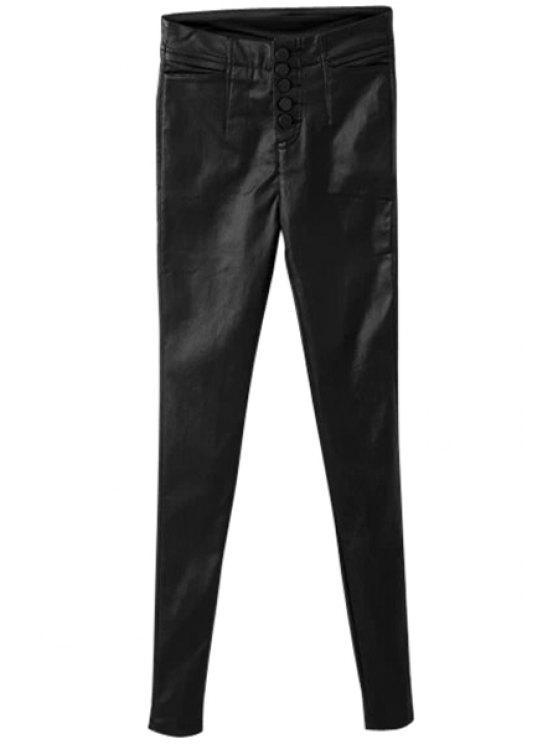 affordable Narrow Feet Black Pants - BLACK S