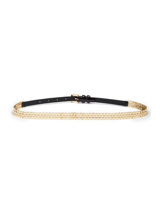 best Alloy Design Pin Buckle Belt - BLACK
