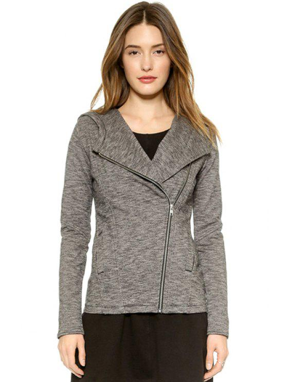 unique Hooded Gray Coat - GRAY S