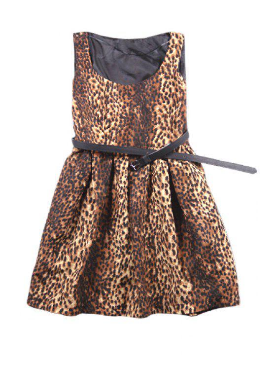 shops Leopard Print A-Line Sundress - LEOPARD XS