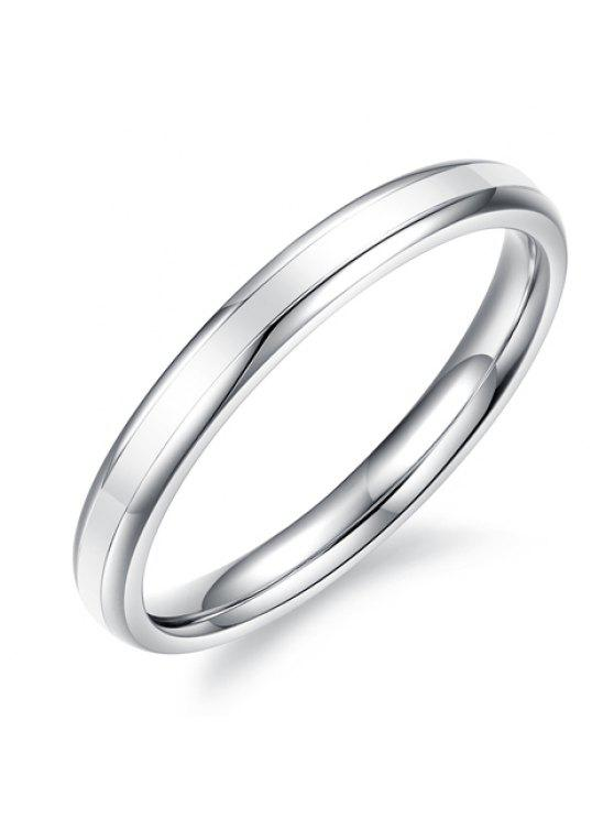 buy Chic Women's Smooth Round Solid Color Design Ring - WHITE GOLDEN ONE-SIZE