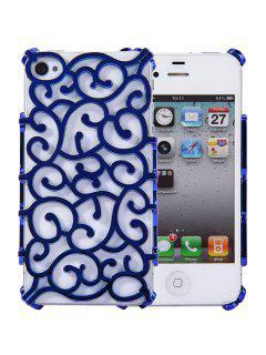 Funda Protectora Para La Contraportada Con Diseño Ahuecado Para IPhone 4 / 4S - Azul