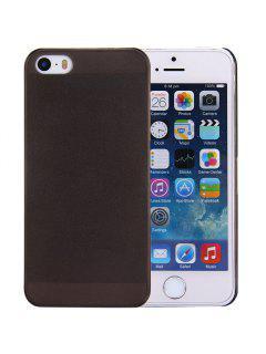 Solid Farbe Transparent Design Schutzhülle Rückseitige Abdeckung Für IPhone SE / 5 / 5S - Schwarz