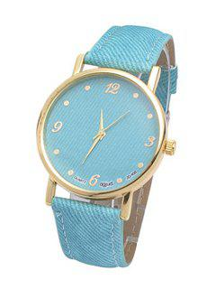 Denim Strap Watch - Light Blue