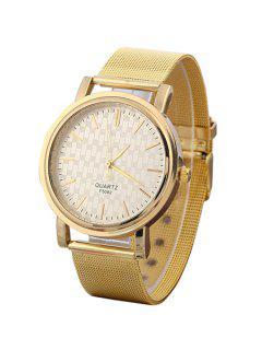 Golden Mesh Watch - Golden