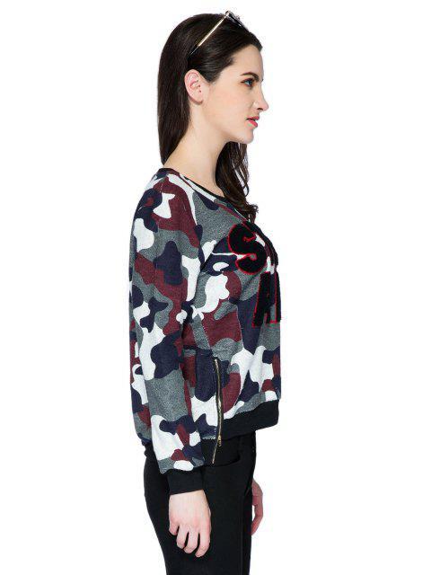 online Letter Camouflage Pattern Sweatshirt - COLORMIX XL Mobile