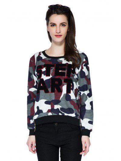 Lettera Camouflage Pattern Felpa - Xl