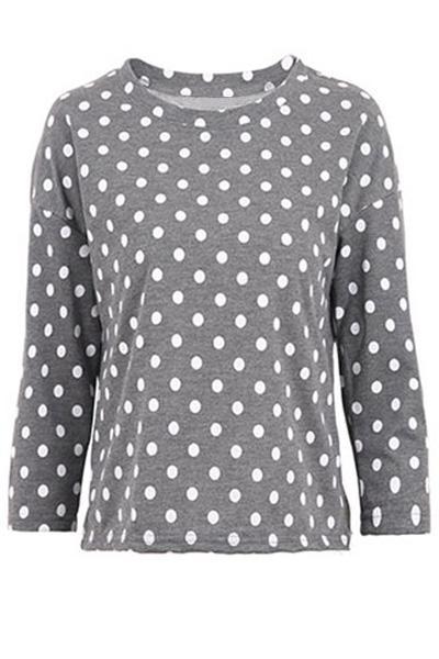 Polka Dot T-Shirt Manica Lunga