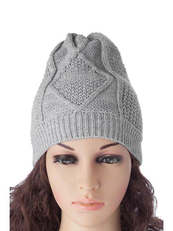 womens Knitted Pure Color Hat - AS THE PICTURE S
