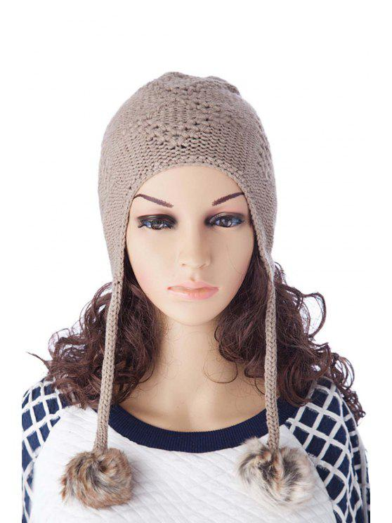outfit Ball Design Knitted Pure Color Hat - LIGHT GRAY S
