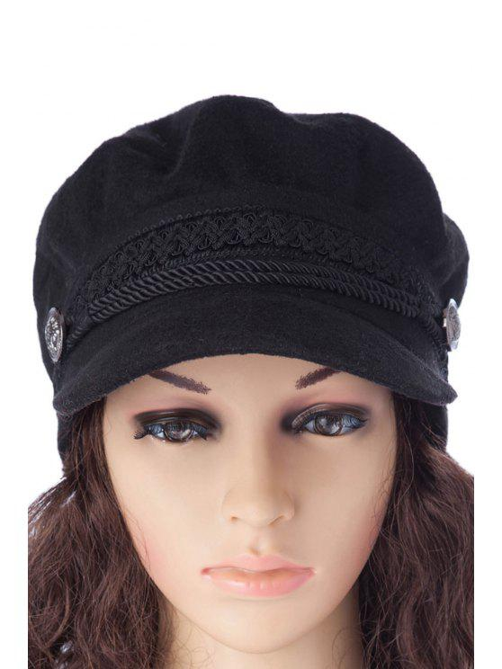 lady Braid Design Felt Hat - BLACK S