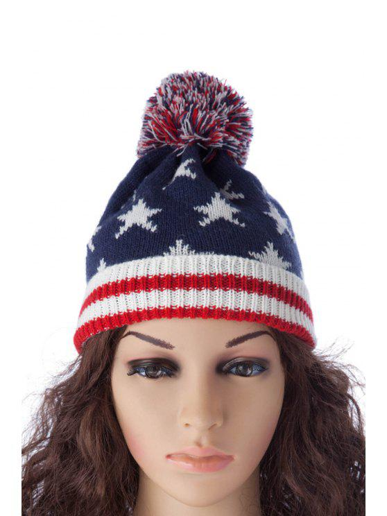 sale Star Stripe Pattern Hat - AS THE PICTURE S