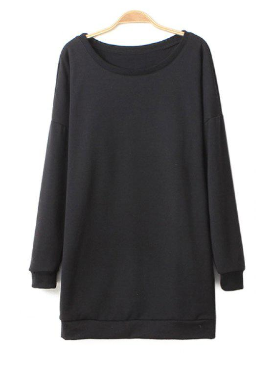 unique Wing Print Long Sleeve Sweatshirt - BLACK S