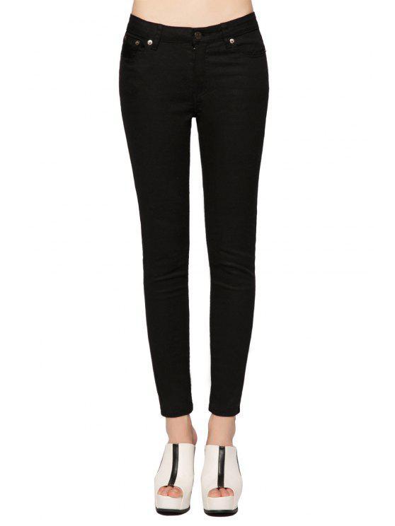 best Narrow Feet Black Skinny Jeans - BLACK 25