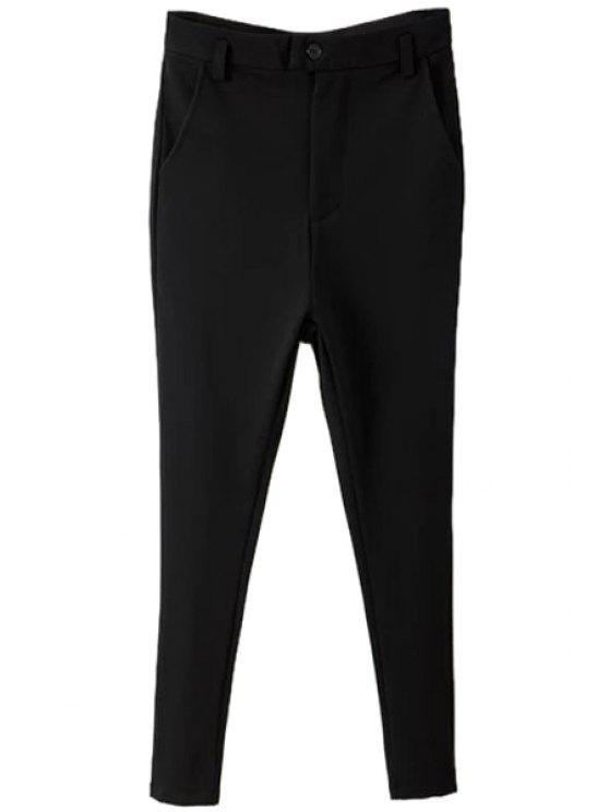 women Black Narrow Feet Pants - BLACK S