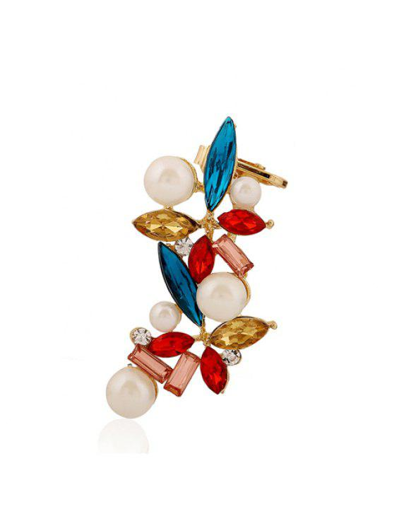 chic ONE PIECE Chic Women's Rhinestone Colored Faux Pearl Flower Earring - COLORFUL