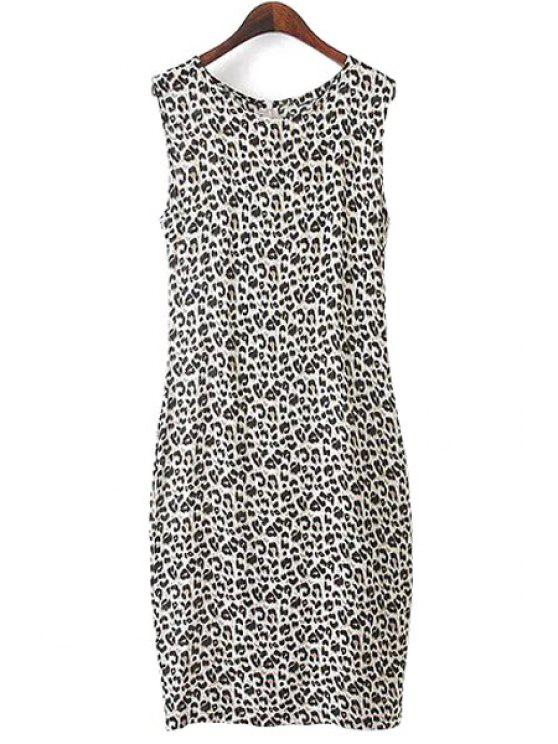 new Leopard Print Sleeveless Dress - LEOPARD S