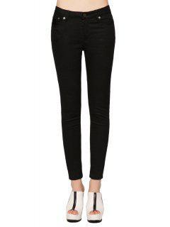 Pieds Noirs étroits Skinny Jeans - Noir 29