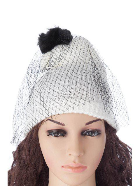 hot Pompon Design Veil Hat - AS THE PICTURE S Mobile