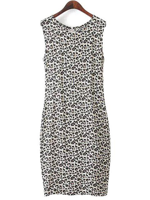 outfit Leopard Print Sleeveless Dress - LEOPARD L Mobile