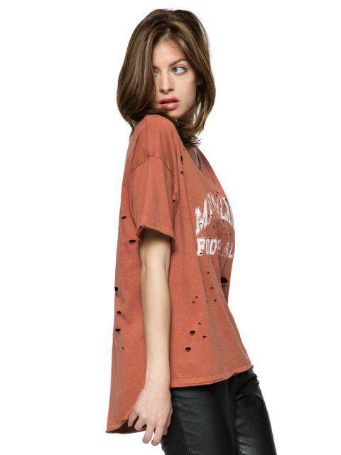ブロークンホール半袖Tシャツを印刷 - ライト・サロモン S Mobile