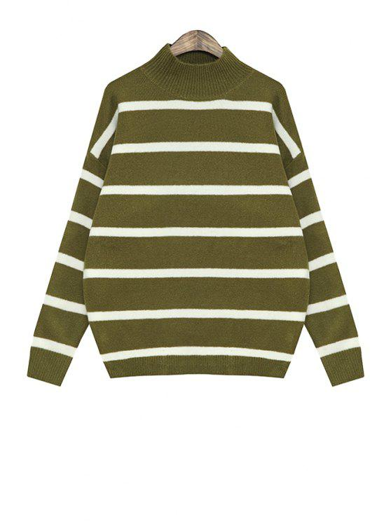 online Stripe Long Sleeve Sweater For Women - GREEN ONE SIZE(FIT SIZE XS TO M)