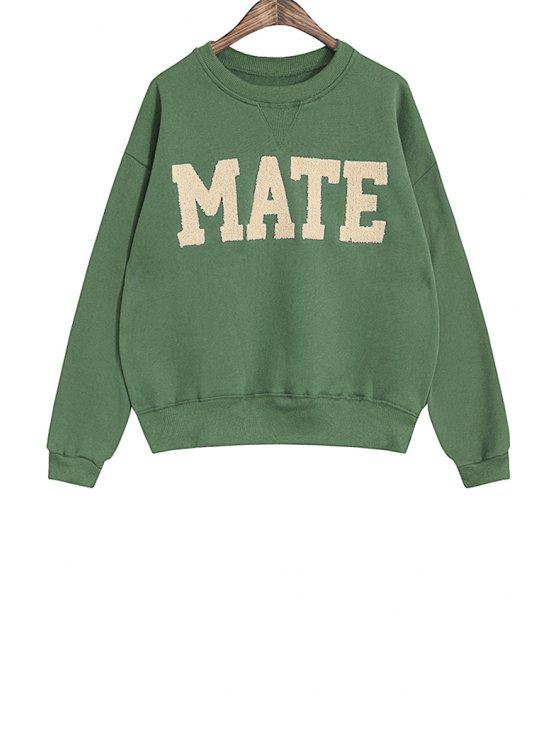 womens Letter Pattern Sweatshirt For Women - GREEN ONE SIZE(FIT SIZE XS TO M)