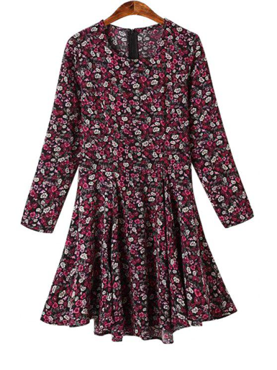 online Tiny Floral Print Dress - COLORMIX S
