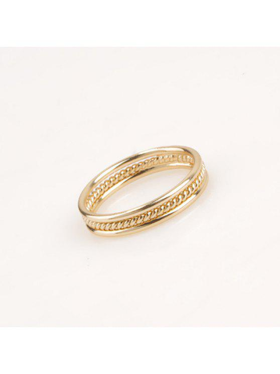 buy Simple Solid Color Round Ring - GOLDEN ONE-SIZE