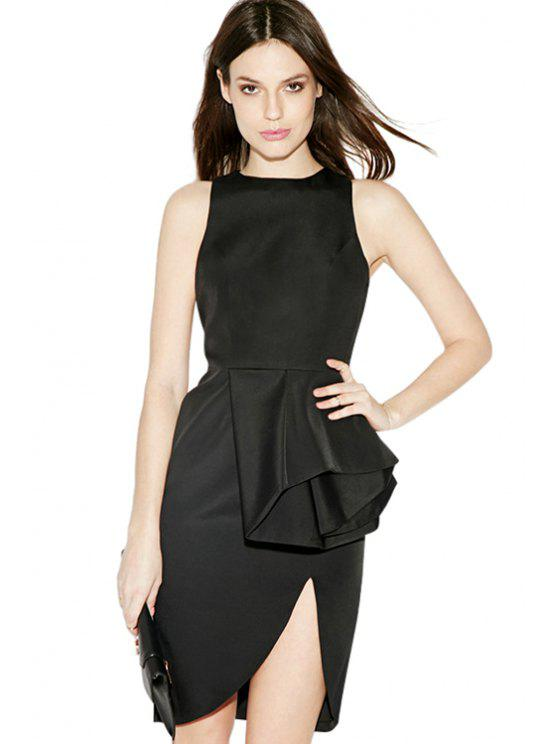 shops Sleeveless Black Dress - BLACK S