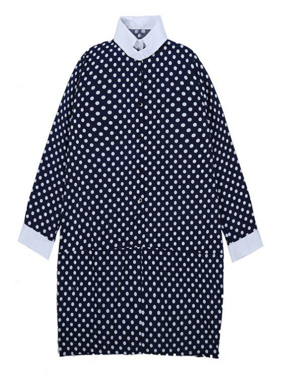 outfit Polka Dot Long Sleeve Dress - BLUE ONE SIZE(FIT SIZE XS TO M)