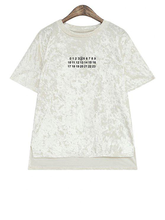 affordable Figure Print Asymmetrical T-Shirt - OFF-WHITE ONE SIZE(FIT SIZE XS TO M)