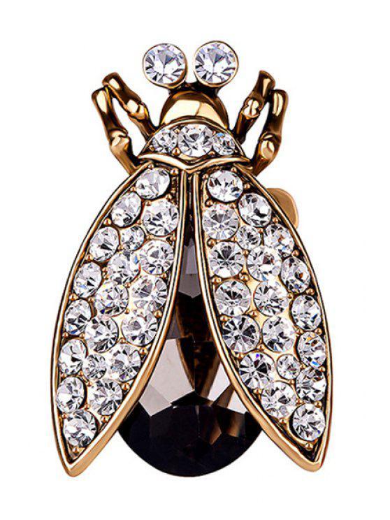 new Stylish Rhinestone Insect Ring - GOLDEN ONE-SIZE