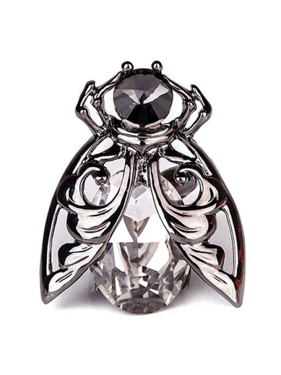 outfits Chic Rhinestone Insect Ring - GUN METAL ONE-SIZE