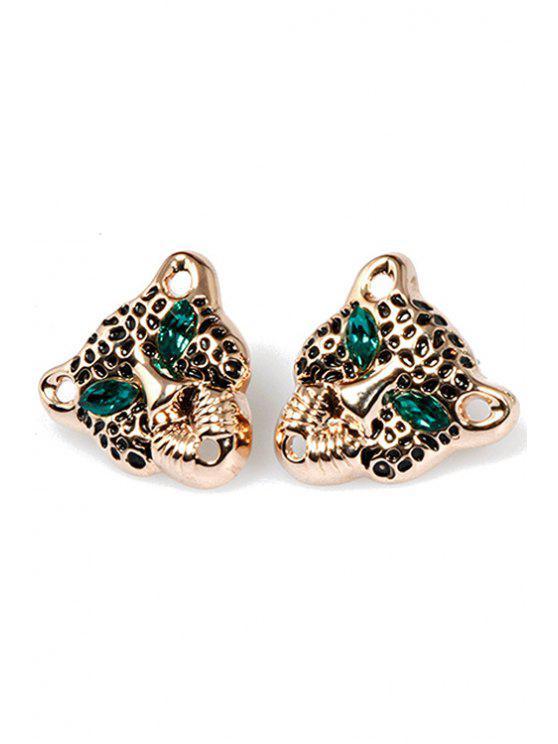 new Chic Rhinestone Leopard Earrings - GOLDEN
