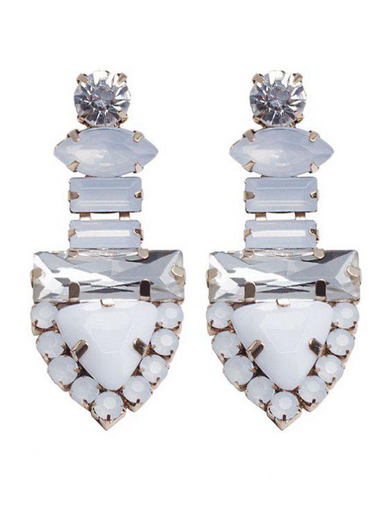 shop Rhinestone Triangle Shape Earrings - GOLDEN