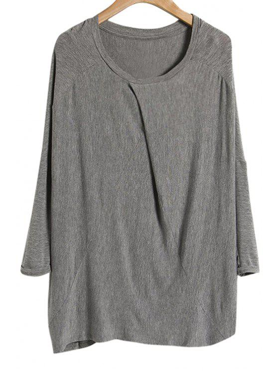 chic Solid Color Modal T-Shirt - GRAY ONE SIZE(FIT SIZE XS TO M)