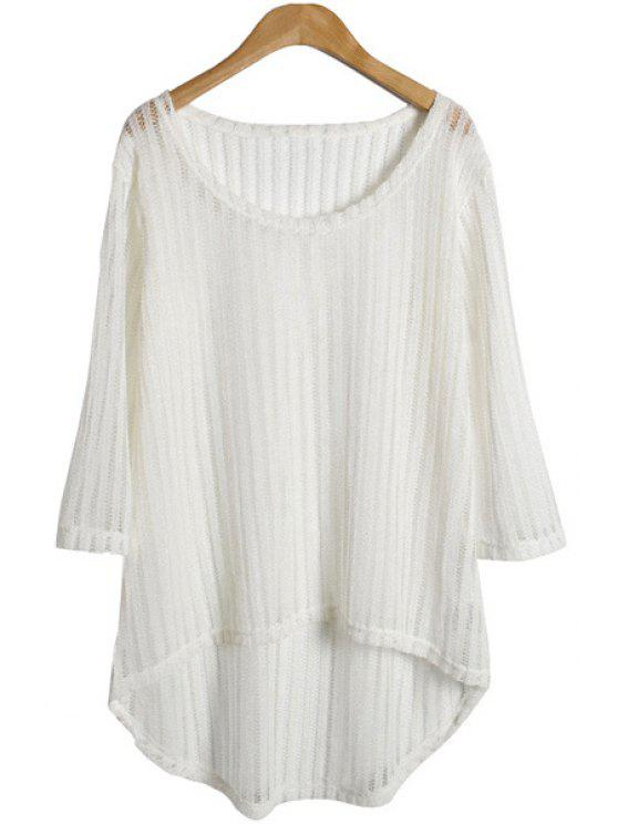 affordable Solid Color Hollow Knitwear - WHITE ONE SIZE(FIT SIZE XS TO M)