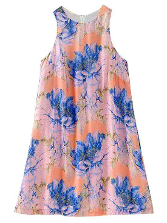 outfit Floral Jewel Neck Sundress - COLORMIX S