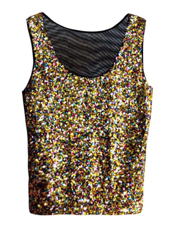 outfit Color Mixed Sequins Tank Top - COLORFUL ONE SIZE(FIT SIZE XS TO M)