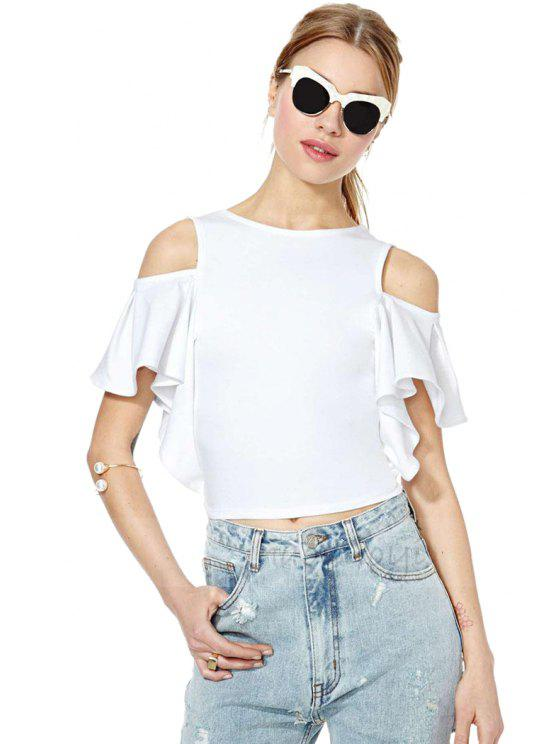7ae97df81e0a67 32% OFF  2019 White Off-The-Shoulder T-Shirt In WHITE