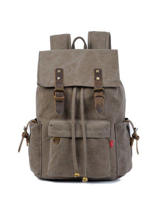 حقيبة الظهر تصميم المشبك والحبل للرجال - الرمادي العميق